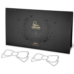 MIMI BOW NIPPLE COVERS BIJOUX INDISCRETS CLEAR