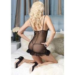BLACK SHEER BABYDOLL WITH...